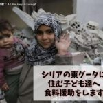 シリアの東グータの子ども達に食料を届けたい!